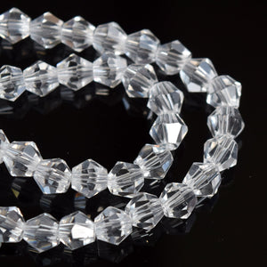 STAR BEADS: Faceted Bicone Glass Beads - Crystal - Bicone Beads