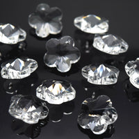 STAR BEADS: 10 X FACETED GLASS FLOWER PENDANTS 14MM - PICK COLOUR - Pendants