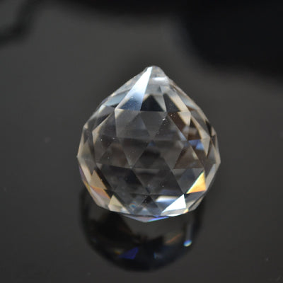 STAR BEADS: CRYSTAL CLEAR 15MM, 30MM, 40MM FACETED GLASS BALL CHANDELIER SUN-CATCHER PENDANT - Pendants