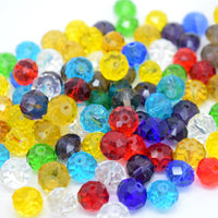 STAR BEADS: FACETED RONDELLE GLASS BEADS MIXED - PICK SIZE - Rondelle Beads