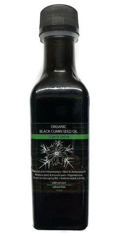 Organic Black Cumin Seed 100% Pure Cold Pressed Oil 100ml