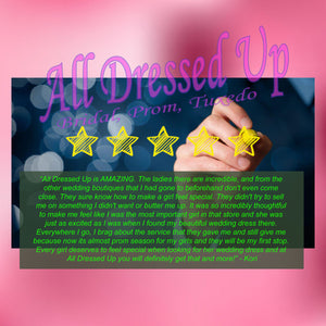All Dressed Up Chattanooga, a 5-Star Review | Bridal Gowns, Prom Dresses, Bridesmaids, Tuxedo Rentals | Wedding
