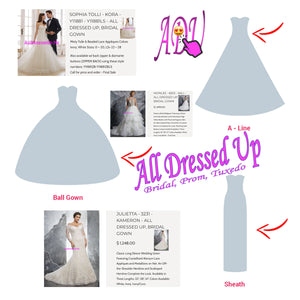 A Guide to Popular Wedding Gown Silhouettes | Part 1 of 2 - A-Line, Ball Gown & Sheath | Chattanooga, TN