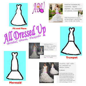 A Guide to Popular Wedding Gown Silhouettes | Part 2 of 2 | All Dressed Up Bridal Prom Tuxedo | Chattanooga, TN