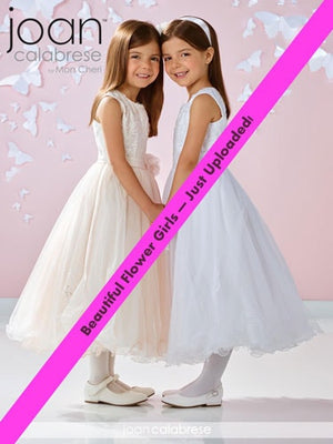 Joan Calabrese Flower Girl Dresses for Mon Cheri Wedding youth children First Holy Communion special event Chattanooga Hixson  Shops Boutiques Tennessee TN Georgia GA MSRP Lowest Prices Sale Discount popular stylish dainty classic prim proper conservative