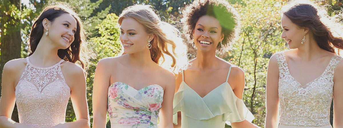 Morilee Bridesmaids Dresses Wedding Chattanooga Hixson Shops Boutiques Tennessee TN Georgia GA MSRP Lowest Prices Sale Discount A-Line Fit-And-Flare Mermaid Sheath Sexy Empire Sweetheart illusion strapless halter v-neck
