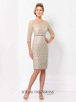 Last Dress In Stock; Size: 16, Color: Oyster - Social Occasions - 115866SL