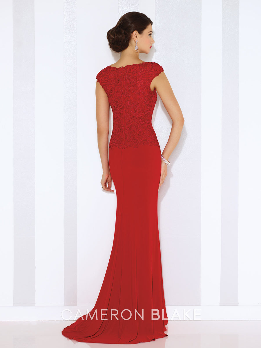 Last Dress In Stock; Size: 14, Color: Water - Cameron Blake - 116667