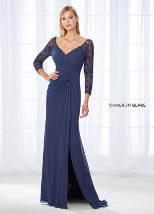 Last Dress In Stock; Size: 12, Color: Navy Blue - Cameron Blake - 118672