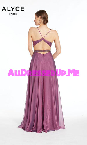 Alyce Paris - 1383 - All Dressed Up, Prom/Party Dress - - Dresses Two Piece Cut Out Sweetheart Halter Low Back High Neck Print Beaded Chiffon Jersey Fitted Sexy Satin Lace Jeweled Sparkle Shimmer Sleeveless Stunning Gorgeous Modest See Through Transparent Glitter Special Occasions Event Chattanooga Hixson Shops Boutiques Tennessee TN Georgia GA MSRP Lowest Prices Sale Discount