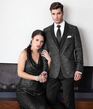 Diamond Plus - 192 - Granite Paisley Aries - All Dressed Up, Tuxedo Rental