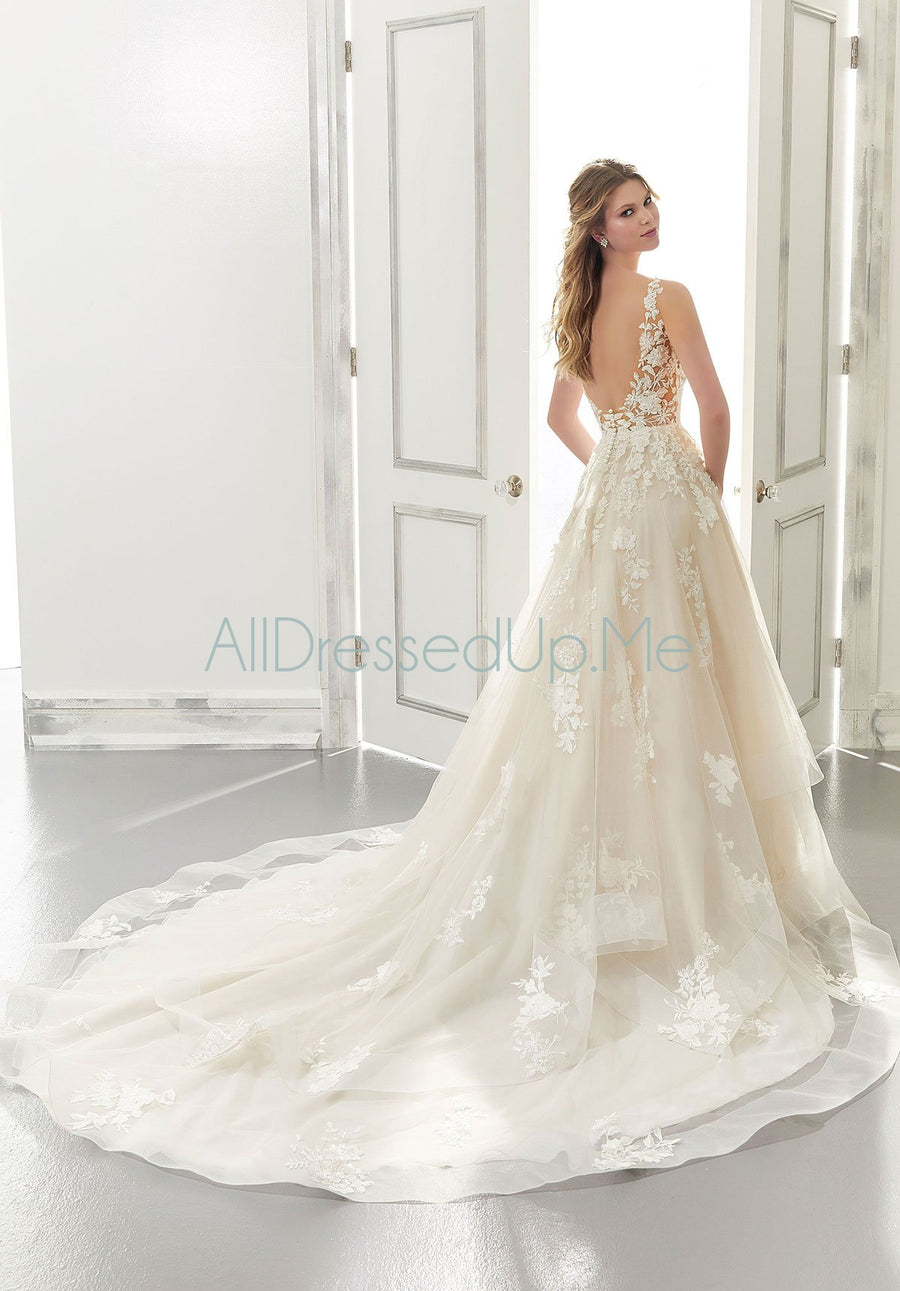 Morilee - Audrey - 2176 - 2176W - Cheron's Bridal, Wedding Gown - Morilee - - Wedding Gowns Dresses Chattanooga Hixson Shops Boutiques Tennessee TN Georgia GA MSRP Lowest Prices Sale Discount