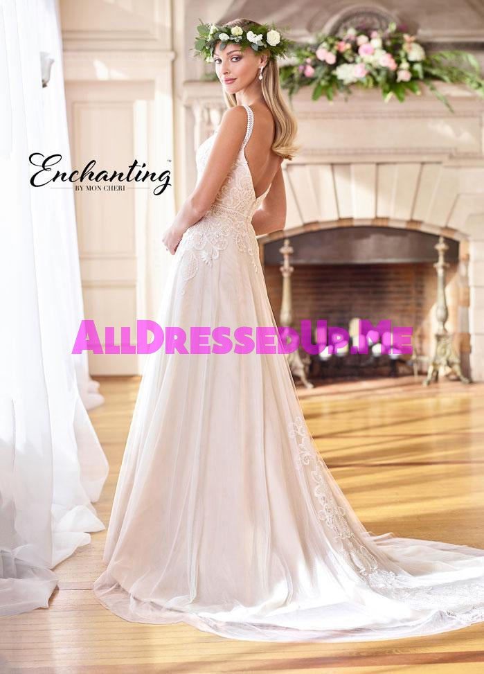 Enchanting - 218171 - 218171W - All Dressed Up, Bridal Gown - Mon Cheri - - Wedding Gowns Dresses Chattanooga Hixson Shops Boutiques Tennessee TN Georgia GA MSRP Lowest Prices Sale Discount