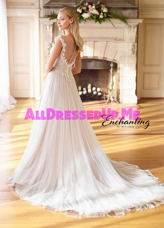 Enchanting - 218184 - 218184W - All Dressed Up, Bridal Gown - Mon Cheri - - Wedding Gowns Dresses Chattanooga Hixson Shops Boutiques Tennessee TN Georgia GA MSRP Lowest Prices Sale Discount