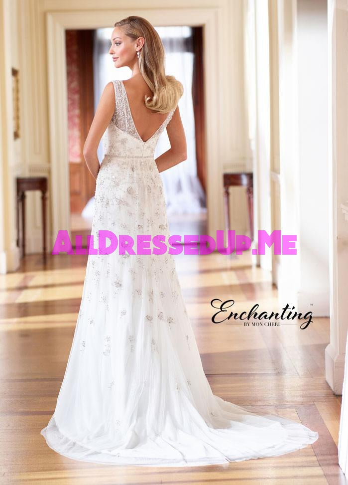 Enchanting - 218185 - 218185W - All Dressed Up, Bridal Gown - Mon Cheri - - Wedding Gowns Dresses Chattanooga Hixson Shops Boutiques Tennessee TN Georgia GA MSRP Lowest Prices Sale Discount