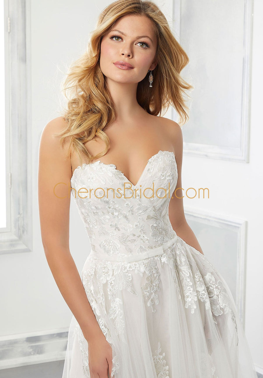 Morilee - 2304 - Beverly - Cheron's Bridal, Wedding Gown - Morilee - - Wedding Gowns Dresses Chattanooga Hixson Shops Boutiques Tennessee TN Georgia GA MSRP Lowest Prices Sale Discount