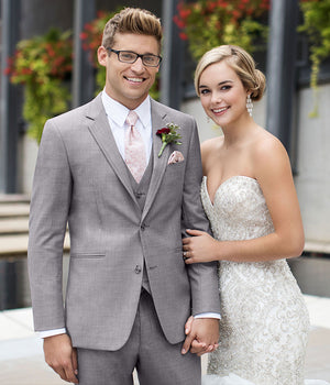 Diamond Plus - 262 - Ultra Slim Heather Grey Clayton - All Dressed Up, Suit Rental