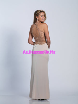 Dave & Johnny - 3223 - All Dressed Up, Prom/Party - - Dresses Two Piece Cut Out Sweetheart Halter Low Back High Neck Print Beaded Chiffon Jersey Fitted Sexy Satin Lace Jeweled Sparkle Shimmer Sleeveless Stunning Gorgeous Modest See Through Transparent Glitter Special Occasions Event Chattanooga Hixson Shops Boutiques Tennessee TN Georgia GA MSRP Lowest Prices Sale Discount