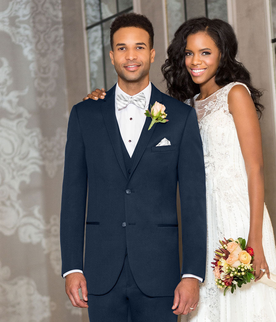 Diamond - 371 - Ultra Slim Navy Sterling - All Dressed Up, Suit Rental