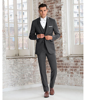 Diamond Plus - 391 - Ultra Slim Steel Grey Sterling - All Dressed Up, Suit Rental