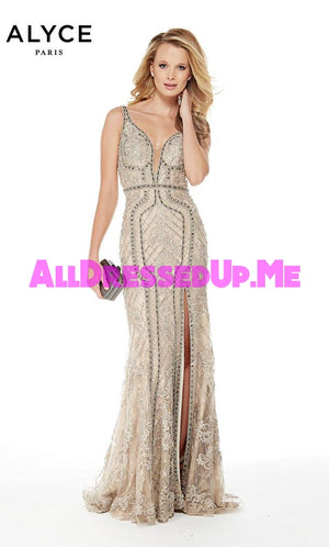 Alyce Paris - 5013 - All Dressed Up, Prom/Party Dress - - Dresses Two Piece Cut Out Sweetheart Halter Low Back High Neck Print Beaded Chiffon Jersey Fitted Sexy Satin Lace Jeweled Sparkle Shimmer Sleeveless Stunning Gorgeous Modest See Through Transparent Glitter Special Occasions Event Chattanooga Hixson Shops Boutiques Tennessee TN Georgia GA MSRP Lowest Prices Sale Discount