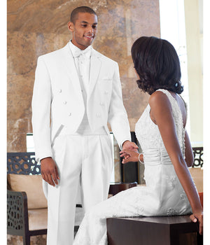 Gold - 571 - White Troy Fulldress - All Dressed Up, Tuxedo Rental