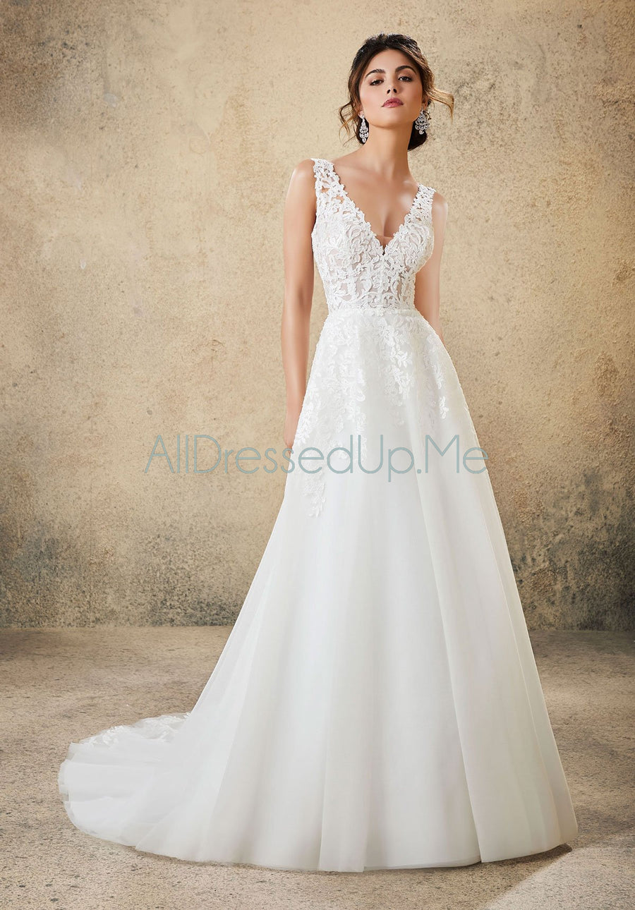 Blu - Rosemarie - 5774 - 5774W - Cheron's Bridal, Wedding Gown - Morilee - - Wedding Gowns Dresses Chattanooga Hixson Shops Boutiques Tennessee TN Georgia GA MSRP Lowest Prices Sale Discount