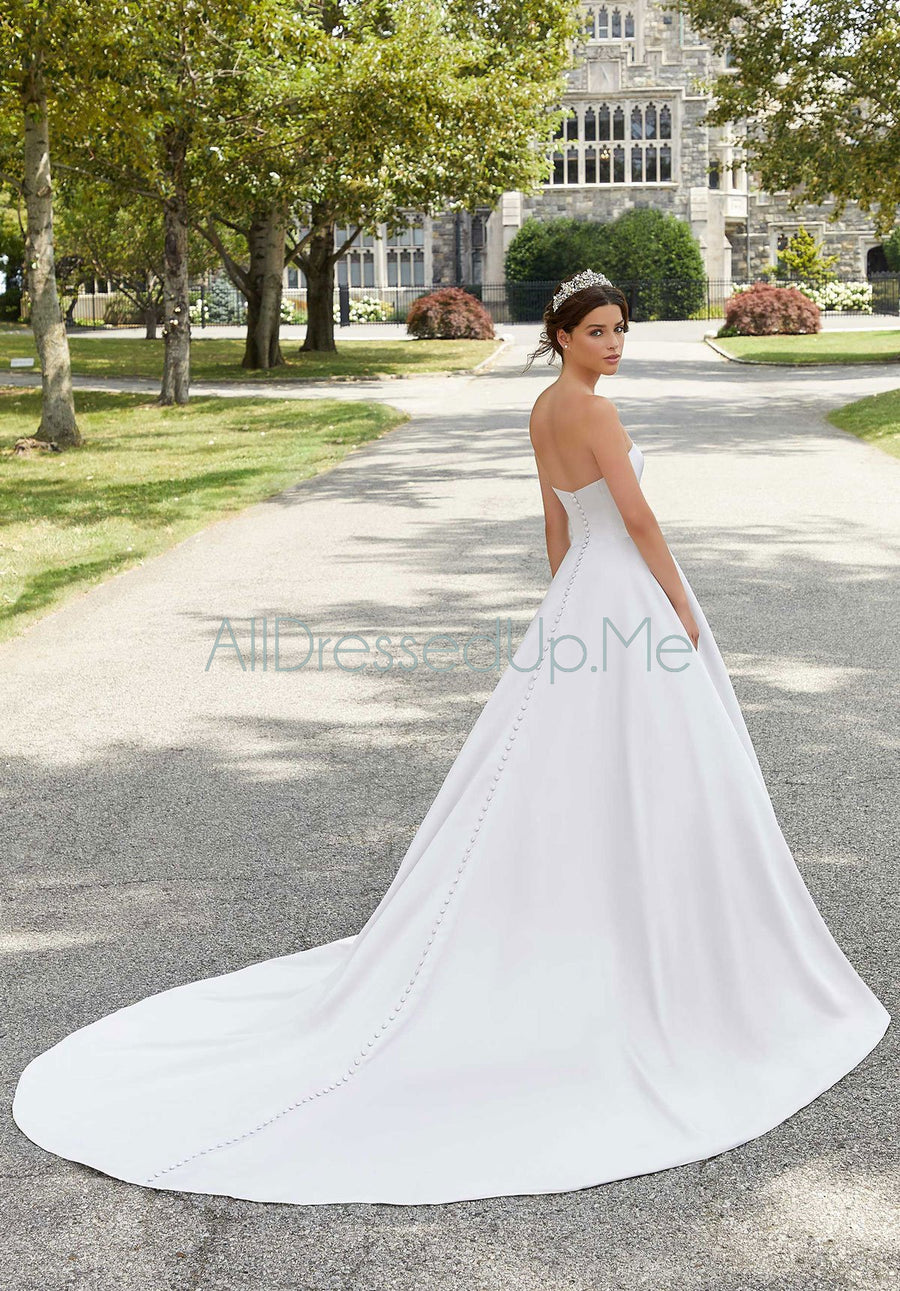 Blu - Shelby - 5807 - Cheron's Bridal, Wedding Gown - Morilee - - Wedding Gowns Dresses Chattanooga Hixson Shops Boutiques Tennessee TN Georgia GA MSRP Lowest Prices Sale Discount