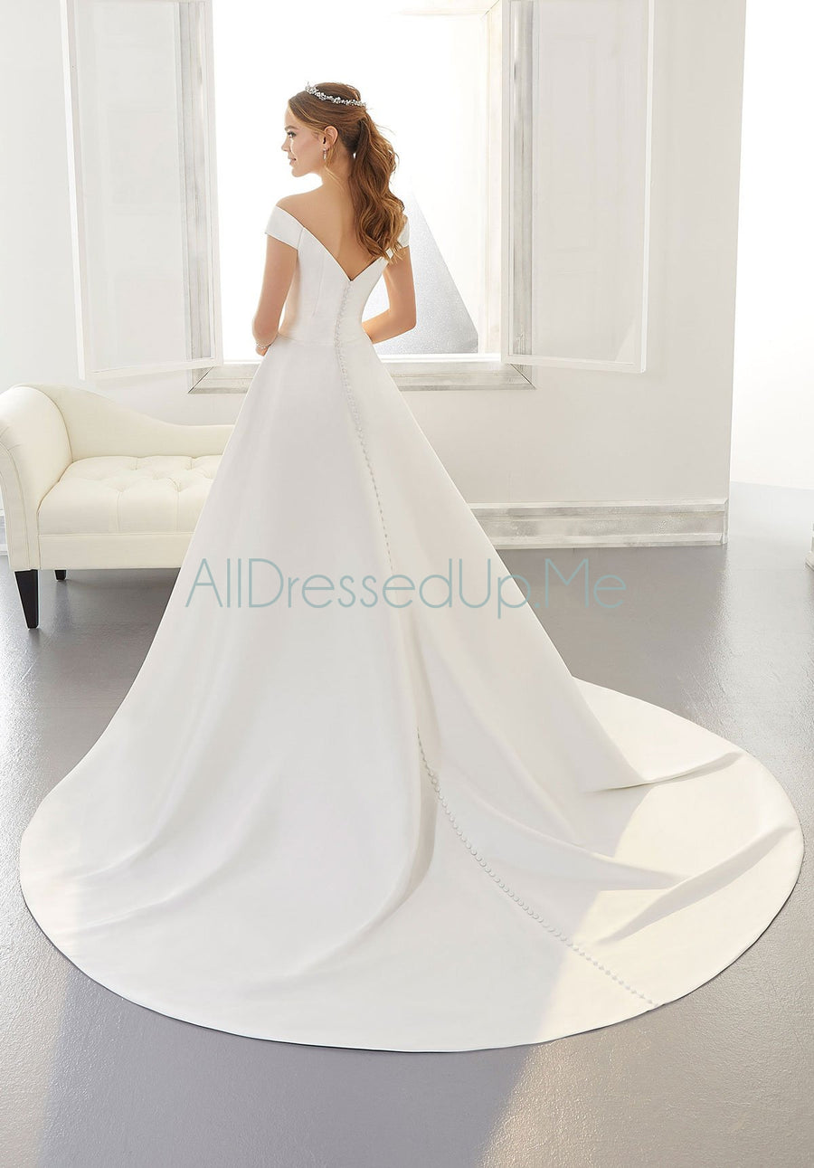 Blu - Ainsley - 5865 - 5865W - Cheron's Bridal, Wedding Gown - Morilee - - Wedding Gowns Dresses Chattanooga Hixson Shops Boutiques Tennessee TN Georgia GA MSRP Lowest Prices Sale Discount