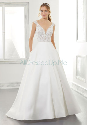 Blu - Adele - 5867 - Cheron's Bridal, Wedding Gown - Morilee - - Wedding Gowns Dresses Chattanooga Hixson Shops Boutiques Tennessee TN Georgia GA MSRP Lowest Prices Sale Discount