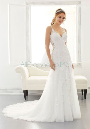 Blu - Asya - 5869 - 5869W - Cheron's Bridal, Wedding Gown - Morilee - - Wedding Gowns Dresses Chattanooga Hixson Shops Boutiques Tennessee TN Georgia GA MSRP Lowest Prices Sale Discount