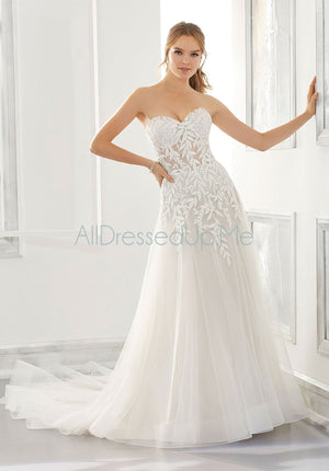 Blu - Azalea - 5870 - Cheron's Bridal, Wedding Gown - Morilee - - Wedding Gowns Dresses Chattanooga Hixson Shops Boutiques Tennessee TN Georgia GA MSRP Lowest Prices Sale Discount