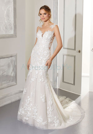Blu - Andrea - 5876 - Cheron's Bridal, Wedding Gown - Morilee - - Wedding Gowns Dresses Chattanooga Hixson Shops Boutiques Tennessee TN Georgia GA MSRP Lowest Prices Sale Discount