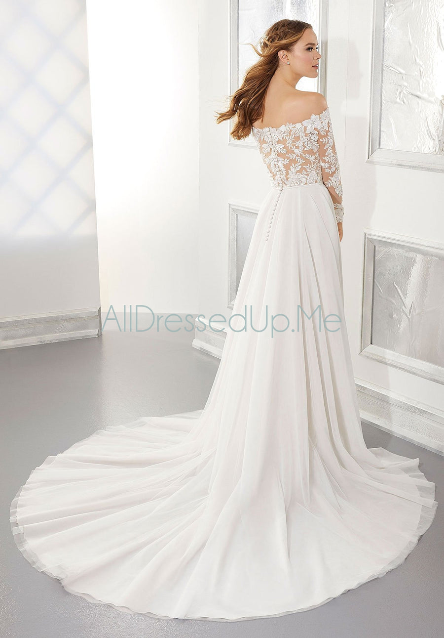 Blu - Ashley - 5877 - Cheron's Bridal, Wedding Gown - Morilee - - Wedding Gowns Dresses Chattanooga Hixson Shops Boutiques Tennessee TN Georgia GA MSRP Lowest Prices Sale Discount