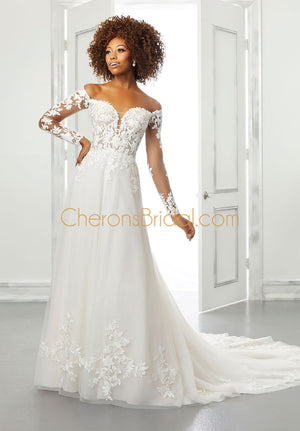 Blu - 5902 - Brienne - Cheron's Bridal, Wedding Gown - Morilee - - Wedding Gowns Dresses Chattanooga Hixson Shops Boutiques Tennessee TN Georgia GA MSRP Lowest Prices Sale Discount