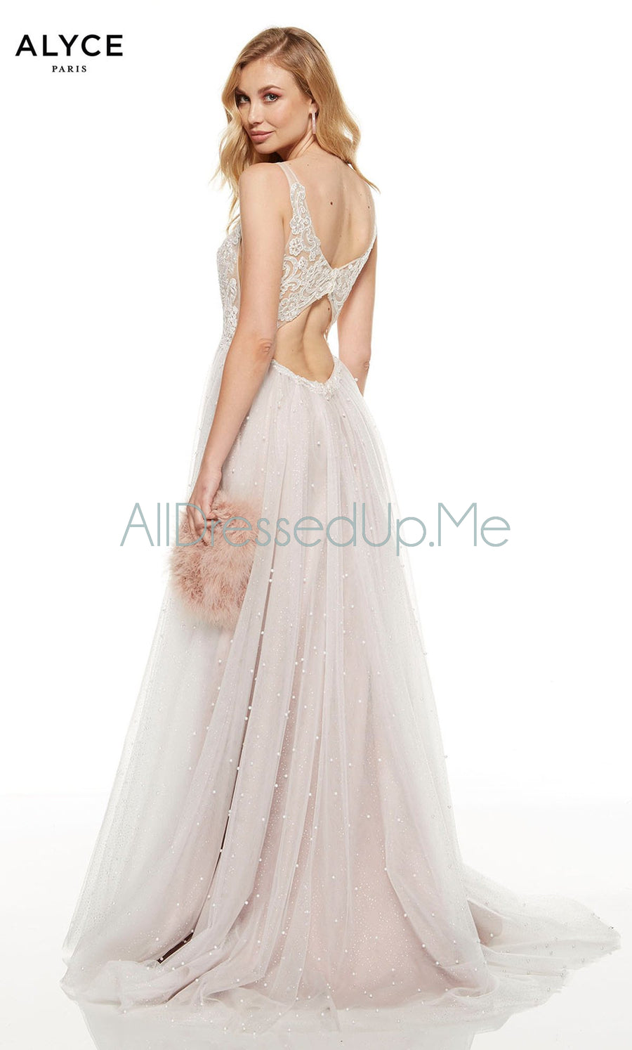 Alyce Paris - 60686 - All Dressed Up, Prom/Party Dress - - Dresses Two Piece Cut Out Sweetheart Halter Low Back High Neck Print Beaded Chiffon Jersey Fitted Sexy Satin Lace Jeweled Sparkle Shimmer Sleeveless Stunning Gorgeous Modest See Through Transparent Glitter Special Occasions Event Chattanooga Hixson Shops Boutiques Tennessee TN Georgia GA MSRP Lowest Prices Sale Discount