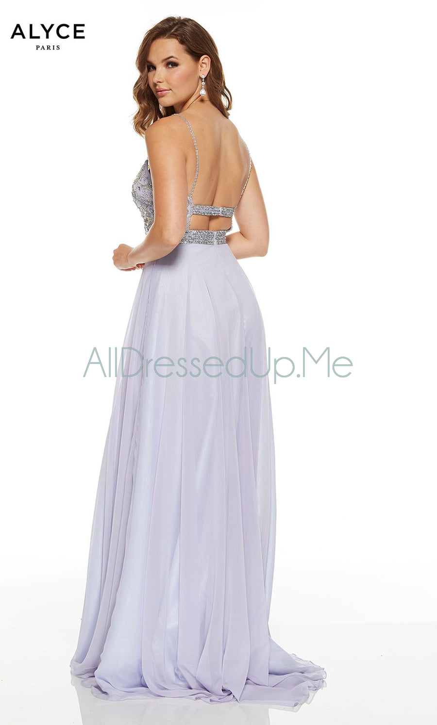 Alyce Paris - 60689 - All Dressed Up, Prom/Party Dress - - Dresses Two Piece Cut Out Sweetheart Halter Low Back High Neck Print Beaded Chiffon Jersey Fitted Sexy Satin Lace Jeweled Sparkle Shimmer Sleeveless Stunning Gorgeous Modest See Through Transparent Glitter Special Occasions Event Chattanooga Hixson Shops Boutiques Tennessee TN Georgia GA MSRP Lowest Prices Sale Discount