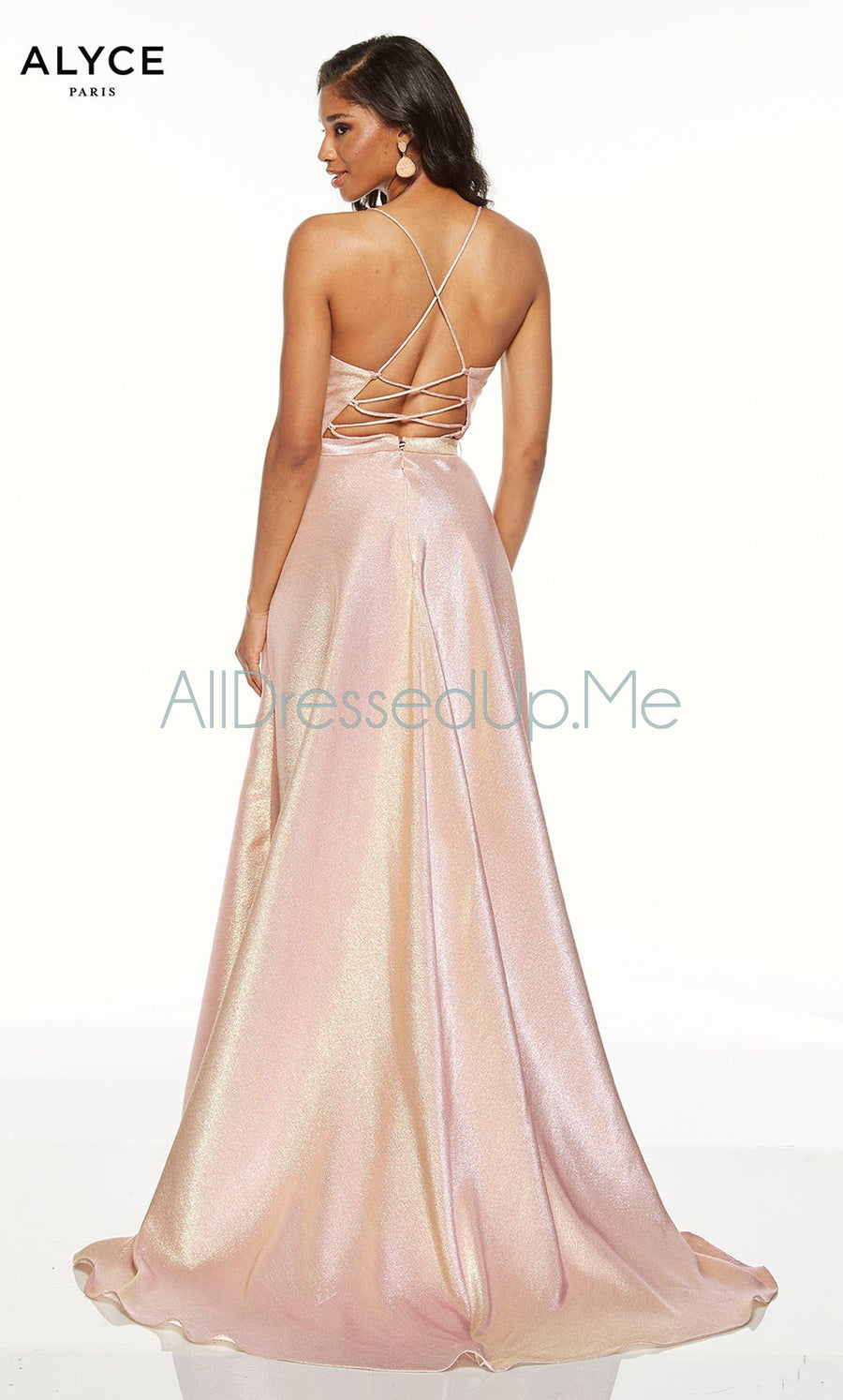Alyce Paris - 60712 - All Dressed Up, Prom/Party Dress - - Dresses Two Piece Cut Out Sweetheart Halter Low Back High Neck Print Beaded Chiffon Jersey Fitted Sexy Satin Lace Jeweled Sparkle Shimmer Sleeveless Stunning Gorgeous Modest See Through Transparent Glitter Special Occasions Event Chattanooga Hixson Shops Boutiques Tennessee TN Georgia GA MSRP Lowest Prices Sale Discount