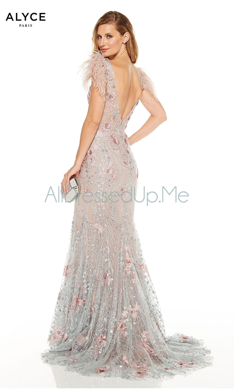 Alyce Paris - 60738 - All Dressed Up, Prom/Party Dress - - Dresses Two Piece Cut Out Sweetheart Halter Low Back High Neck Print Beaded Chiffon Jersey Fitted Sexy Satin Lace Jeweled Sparkle Shimmer Sleeveless Stunning Gorgeous Modest See Through Transparent Glitter Special Occasions Event Chattanooga Hixson Shops Boutiques Tennessee TN Georgia GA MSRP Lowest Prices Sale Discount