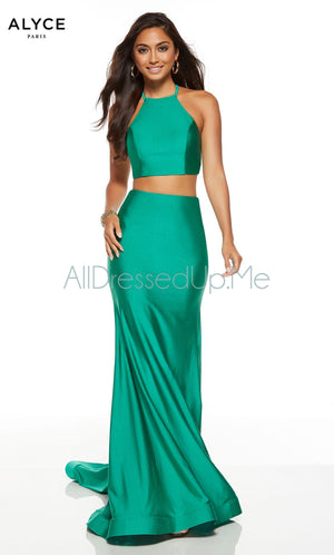 Alyce Paris - 60772 - All Dressed Up, Prom/Party Dress - - Dresses Two Piece Cut Out Sweetheart Halter Low Back High Neck Print Beaded Chiffon Jersey Fitted Sexy Satin Lace Jeweled Sparkle Shimmer Sleeveless Stunning Gorgeous Modest See Through Transparent Glitter Special Occasions Event Chattanooga Hixson Shops Boutiques Tennessee TN Georgia GA MSRP Lowest Prices Sale Discount