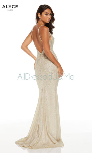 Alyce Paris - 60804 - All Dressed Up, Prom/Party Dress - - Dresses Two Piece Cut Out Sweetheart Halter Low Back High Neck Print Beaded Chiffon Jersey Fitted Sexy Satin Lace Jeweled Sparkle Shimmer Sleeveless Stunning Gorgeous Modest See Through Transparent Glitter Special Occasions Event Chattanooga Hixson Shops Boutiques Tennessee TN Georgia GA MSRP Lowest Prices Sale Discount