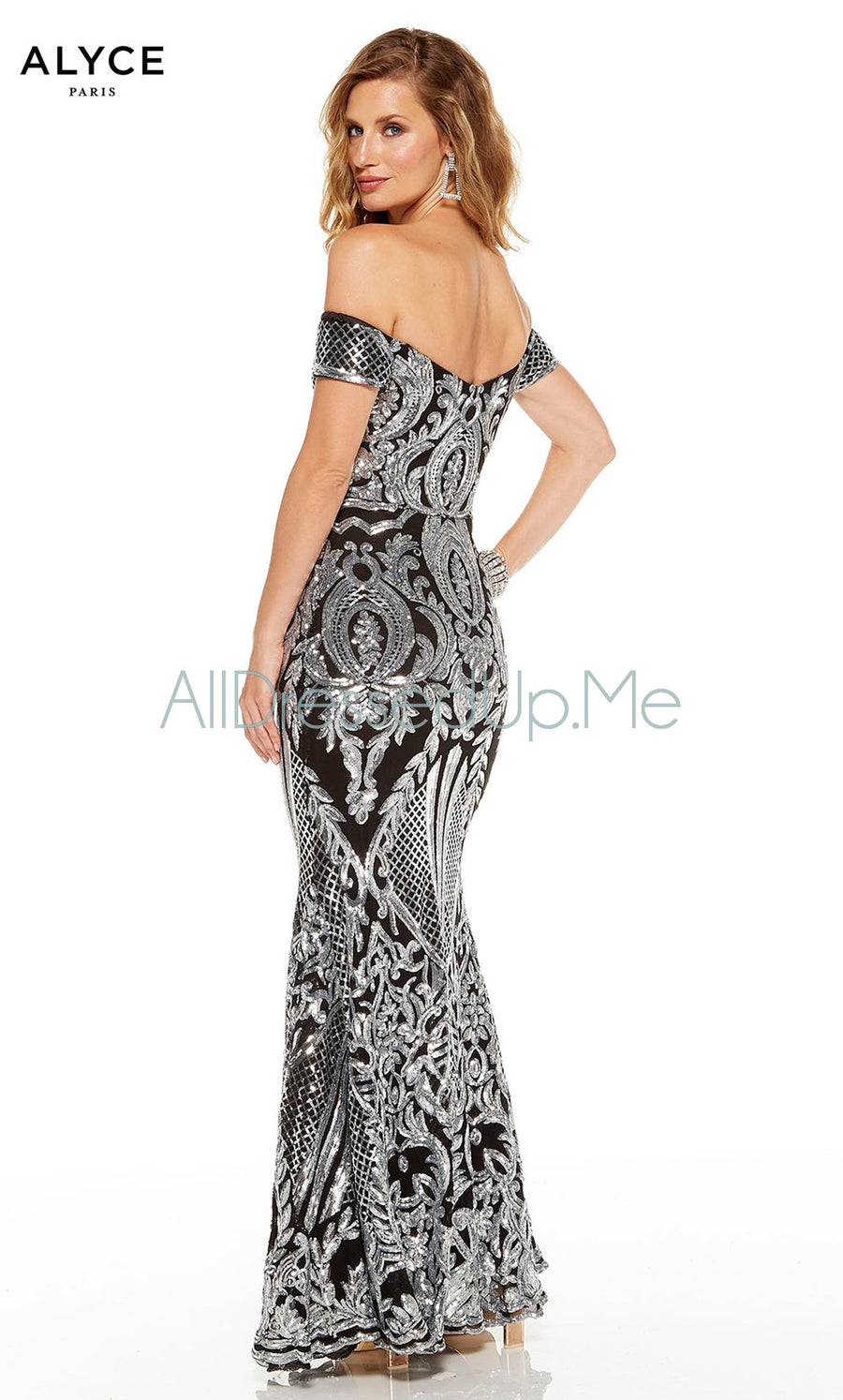 Alyce Paris - 60814 - All Dressed Up, Prom/Party Dress - - Dresses Two Piece Cut Out Sweetheart Halter Low Back High Neck Print Beaded Chiffon Jersey Fitted Sexy Satin Lace Jeweled Sparkle Shimmer Sleeveless Stunning Gorgeous Modest See Through Transparent Glitter Special Occasions Event Chattanooga Hixson Shops Boutiques Tennessee TN Georgia GA MSRP Lowest Prices Sale Discount