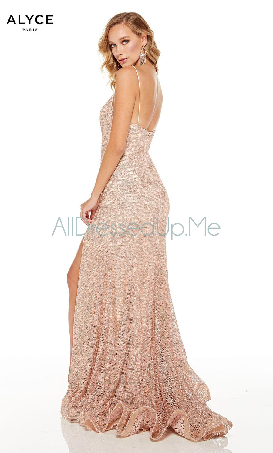Alyce Paris - 60817 - All Dressed Up, Prom/Party Dress - - Dresses Two Piece Cut Out Sweetheart Halter Low Back High Neck Print Beaded Chiffon Jersey Fitted Sexy Satin Lace Jeweled Sparkle Shimmer Sleeveless Stunning Gorgeous Modest See Through Transparent Glitter Special Occasions Event Chattanooga Hixson Shops Boutiques Tennessee TN Georgia GA MSRP Lowest Prices Sale Discount