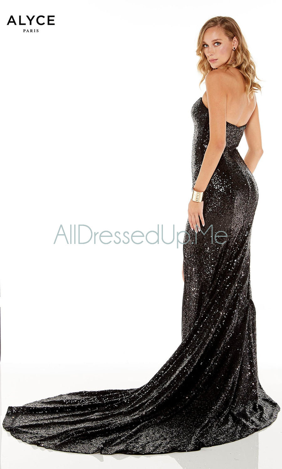 Alyce Paris - 60820 - All Dressed Up, Prom/Party Dress - - Dresses Two Piece Cut Out Sweetheart Halter Low Back High Neck Print Beaded Chiffon Jersey Fitted Sexy Satin Lace Jeweled Sparkle Shimmer Sleeveless Stunning Gorgeous Modest See Through Transparent Glitter Special Occasions Event Chattanooga Hixson Shops Boutiques Tennessee TN Georgia GA MSRP Lowest Prices Sale Discount