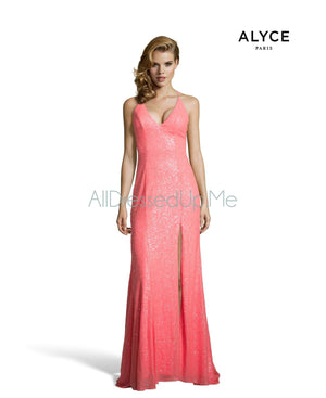 Alyce Paris - 60823 - All Dressed Up, Prom/Party Dress - - Dresses Two Piece Cut Out Sweetheart Halter Low Back High Neck Print Beaded Chiffon Jersey Fitted Sexy Satin Lace Jeweled Sparkle Shimmer Sleeveless Stunning Gorgeous Modest See Through Transparent Glitter Special Occasions Event Chattanooga Hixson Shops Boutiques Tennessee TN Georgia GA MSRP Lowest Prices Sale Discount