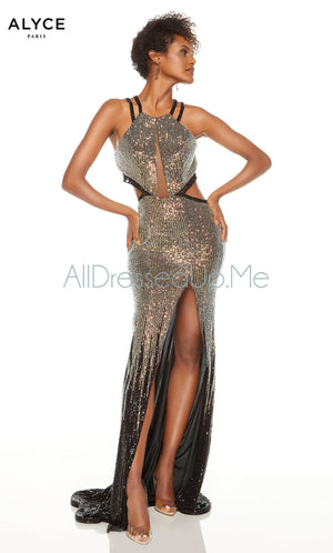 Alyce Paris - 60835 - All Dressed Up, Prom/Party Dress - - Dresses Two Piece Cut Out Sweetheart Halter Low Back High Neck Print Beaded Chiffon Jersey Fitted Sexy Satin Lace Jeweled Sparkle Shimmer Sleeveless Stunning Gorgeous Modest See Through Transparent Glitter Special Occasions Event Chattanooga Hixson Shops Boutiques Tennessee TN Georgia GA MSRP Lowest Prices Sale Discount