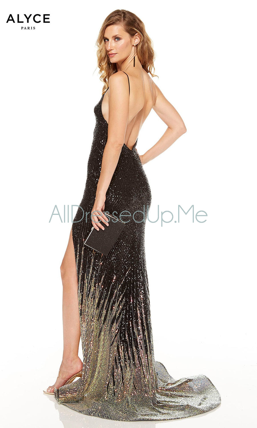 Alyce Paris - 60836 - All Dressed Up, Prom/Party Dress - - Dresses Two Piece Cut Out Sweetheart Halter Low Back High Neck Print Beaded Chiffon Jersey Fitted Sexy Satin Lace Jeweled Sparkle Shimmer Sleeveless Stunning Gorgeous Modest See Through Transparent Glitter Special Occasions Event Chattanooga Hixson Shops Boutiques Tennessee TN Georgia GA MSRP Lowest Prices Sale Discount