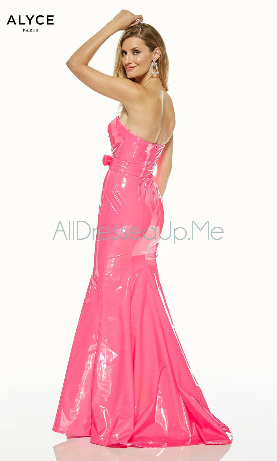 Alyce Paris - 60855 - All Dressed Up, Prom/Party Dress - - Dresses Two Piece Cut Out Sweetheart Halter Low Back High Neck Print Beaded Chiffon Jersey Fitted Sexy Satin Lace Jeweled Sparkle Shimmer Sleeveless Stunning Gorgeous Modest See Through Transparent Glitter Special Occasions Event Chattanooga Hixson Shops Boutiques Tennessee TN Georgia GA MSRP Lowest Prices Sale Discount