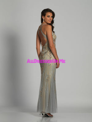 Dave & Johnny - A6577 - All Dressed Up, Prom/Party - - Dresses Two Piece Cut Out Sweetheart Halter Low Back High Neck Print Beaded Chiffon Jersey Fitted Sexy Satin Lace Jeweled Sparkle Shimmer Sleeveless Stunning Gorgeous Modest See Through Transparent Glitter Special Occasions Event Chattanooga Hixson Shops Boutiques Tennessee TN Georgia GA MSRP Lowest Prices Sale Discount