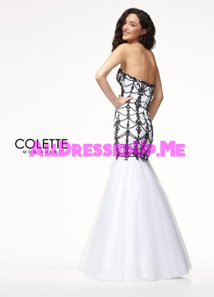 Colette - CL18203 - All Dressed Up, Prom Dress - - Dresses Two Piece Cut Out Sweetheart Halter Low Back High Neck Print Beaded Chiffon Jersey Fitted Sexy Satin Lace Jeweled Sparkle Shimmer Sleeveless Stunning Gorgeous Modest See Through Transparent Glitter Special Occasions Event Chattanooga Hixson Shops Boutiques Tennessee TN Georgia GA MSRP Lowest Prices Sale Discount